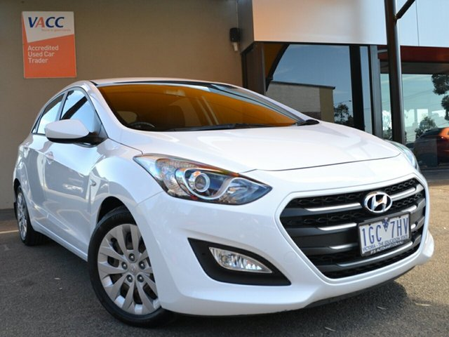 Used Hyundai i30 GD4 Series II MY16 Active DCT Fawkner, 2015 Hyundai i30 GD4 Series II MY16 Active DCT White 7 Speed Sports Automatic Dual Clutch Hatchback