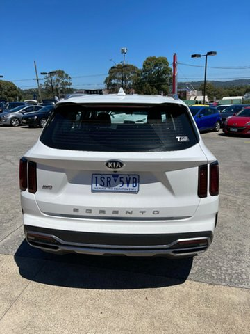 Demo Kia Sorento MQ4 MY21 S AWD Ferntree Gully, 2020 Kia Sorento MQ4 MY21 S AWD Clear White 8 Speed Sports Automatic Dual Clutch Wagon