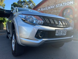 2016 Mitsubishi Triton MQ MY16 GLX+ Double Cab Silver 6 Speed Manual Utility
