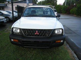 2003 Mitsubishi Triton MK GL White 5 Speed Manual Cab Chassis.