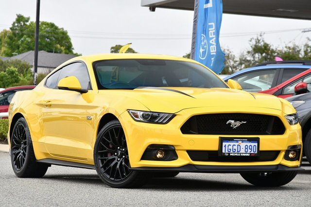 Used Ford Mustang FM 2017MY GT Fastback SelectShift Melville, 2017 Ford Mustang FM 2017MY GT Fastback SelectShift Yellow 6 Speed Sports Automatic Fastback