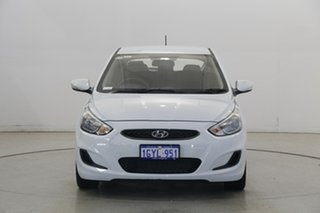 2019 Hyundai Accent RB6 MY19 Sport Chalk White 6 Speed Sports Automatic Hatchback.