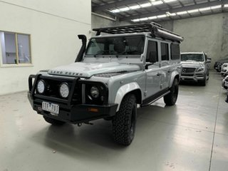 2009 Land Rover Defender 110 09MY Silver 6 Speed Manual Wagon.