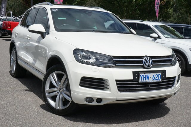 Used Volkswagen Touareg 7P MY12 V6 TDI Tiptronic 4MOTION Phillip, 2011 Volkswagen Touareg 7P MY12 V6 TDI Tiptronic 4MOTION White 8 Speed Sports Automatic Wagon