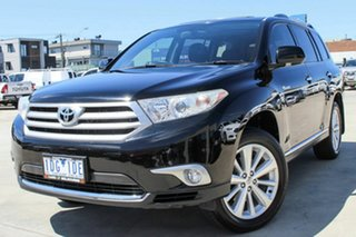 2010 Toyota Kluger GSU40R MY11 Grande 2WD Black 5 Speed Sports Automatic Wagon.