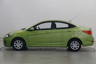 2013 Hyundai Accent RB2 Active Green Apple 4 Speed Sports Automatic Sedan.