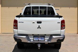 2017 Mitsubishi Triton MQ MY17 GLX Double Cab White 5 Speed Sports Automatic Utility