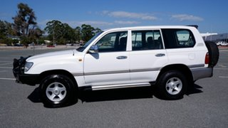 2001 Toyota Landcruiser FZJ105R GXL White 4 Speed Automatic Wagon