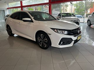 2019 Honda Civic 10th Gen MY19 VTi-L White 1 Speed Constant Variable Hatchback.