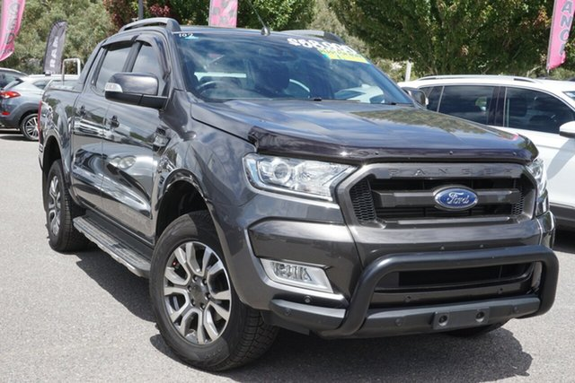 Used Ford Ranger PX MkII 2018.00MY Wildtrak Double Cab Phillip, 2018 Ford Ranger PX MkII 2018.00MY Wildtrak Double Cab Grey 6 Speed Sports Automatic Utility