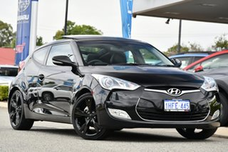 2012 Hyundai Veloster FS2 Coupe D-CT Black 6 Speed Sports Automatic Dual Clutch Hatchback.