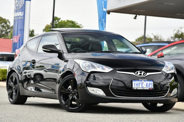 Used Hyundai Veloster FS2 Coupe D-CT Melville, 2012 Hyundai Veloster FS2 Coupe D-CT Black 6 Speed Sports Automatic Dual Clutch Hatchback