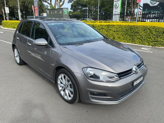 Used Volkswagen Golf VII MY14 103TSI DSG Highline Botany, 2014 Volkswagen Golf VII MY14 103TSI DSG Highline Grey 7 Speed Sports Automatic Dual Clutch