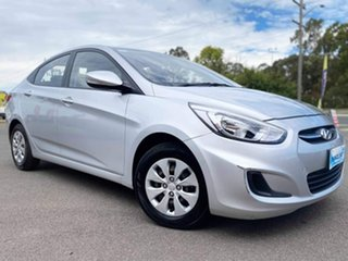 2015 Hyundai Accent RB3 MY16 Active Silver 6 Speed Constant Variable Sedan