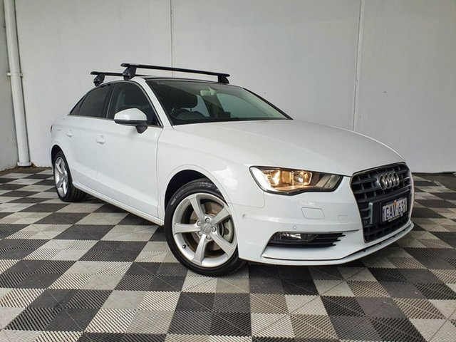 Used Audi A3 8V MY15 Ambition S Tronic Victoria Park, 2015 Audi A3 8V MY15 Ambition S Tronic White 7 Speed Sports Automatic Dual Clutch Sedan