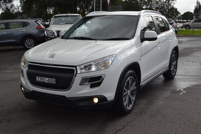 Used Peugeot 4008 MY14 Active 2WD Maitland, 2013 Peugeot 4008 MY14 Active 2WD White 5 Speed Manual Wagon