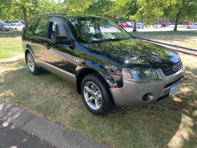 Used Ford Territory SX TX AWD Launceston, 2004 Ford Territory SX TX AWD Black 4 Speed Sports Automatic Wagon