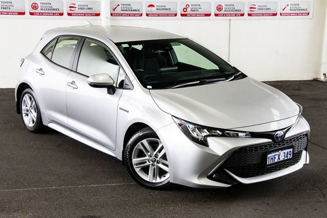 Pre-Owned Toyota Corolla ZWE211R Ascent Sport E-CVT Hybrid Myaree, 2019 Toyota Corolla ZWE211R Ascent Sport E-CVT Hybrid Silver Pearl 10 Speed Constant Variable