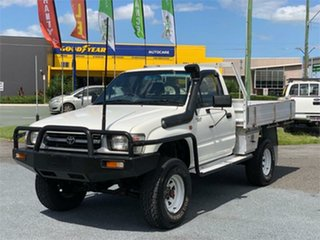 1997 Toyota Hilux LN167R White 5 Speed Manual Cab Chassis.