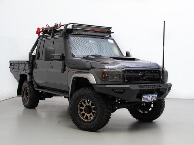 Used Toyota Landcruiser VDJ79R GXL (4x4), 2020 Toyota Landcruiser VDJ79R GXL (4x4) Graphite 5 Speed Manual Double Cab Chassis