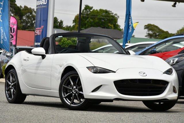 Used Mazda MX-5 ND GT SKYACTIV-Drive Melville, 2017 Mazda MX-5 ND GT SKYACTIV-Drive White 6 Speed Sports Automatic Roadster