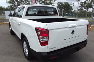 2020 Ssangyong Musso Q200 MY20.5 ELX Crew Cab White 6 Speed Manual Utility