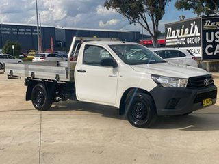 2018 Toyota Hilux Workmate White Sports Automatic Cab Chassis - Single Cab.