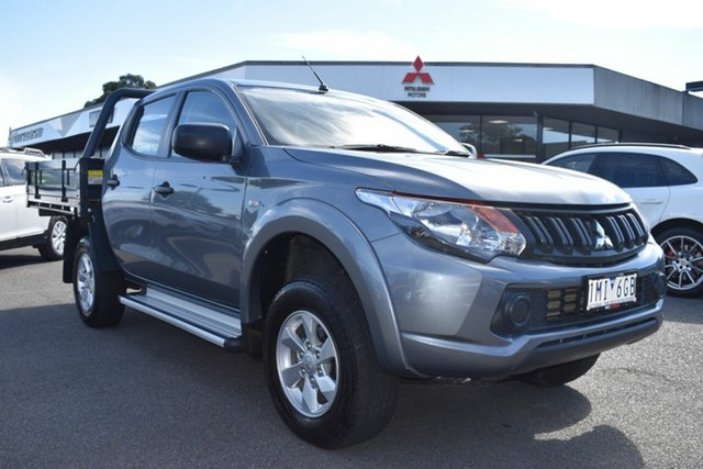 Used Mitsubishi Triton MQ MY17 GLX+ Double Cab Wantirna South, 2017 Mitsubishi Triton MQ MY17 GLX+ Double Cab Grey 6 Speed Manual Utility