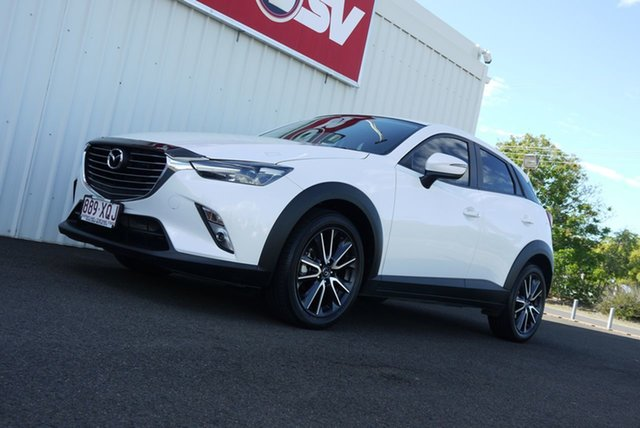 Used Mazda CX-3 DK2W7A sTouring SKYACTIV-Drive Bundaberg, 2017 Mazda CX-3 DK2W7A sTouring SKYACTIV-Drive White 6 Speed Sports Automatic Wagon