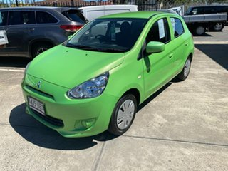 2014 Mitsubishi Mirage LA MY15 ES Green 1 Speed Constant Variable Hatchback
