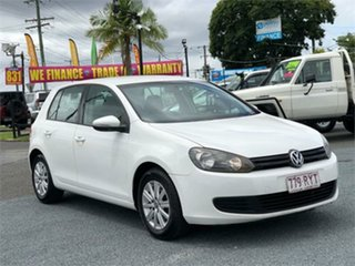 2011 Volkswagen Golf VI 90TSI Trendline White 6 Speed Manual Hatchback.