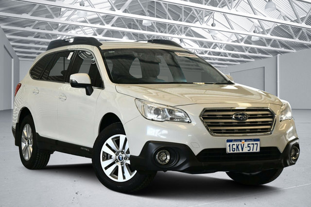 Used Subaru Outback MY16 2.0D AWD Perth Airport, 2017 Subaru Outback MY16 2.0D AWD Crystal White Pearl Continuous Variable Wagon