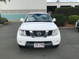 2013 Nissan Navara D40 S7 MY12 RX 4x2 White 5 speed Automatic Utility.