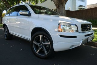 2013 Volvo XC90 P28 MY14 R-Design Geartronic White 6 Speed Sports Automatic Wagon.