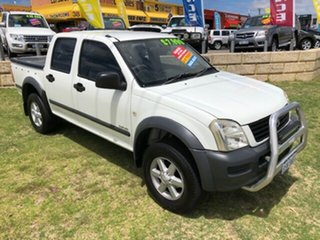 2003 Holden Rodeo RA LX Crew Cab 4x2 White 5 Speed Manual Utility.
