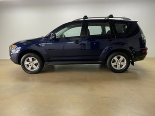 2010 Mitsubishi Outlander ZH MY10 LS Blue 6 Speed CVT Auto Sequential Wagon