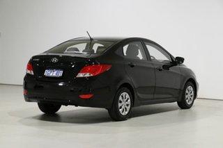 2016 Hyundai Accent RB3 MY16 Active Black 6 Speed CVT Auto Sequential Sedan
