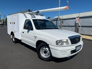 2005 Mazda Bravo B2600 DX 4x2 White 5 Speed Manual Cab Chassis.