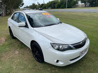 2008 Subaru Impreza G3 MY09 R AWD White 4 Speed Sports Automatic Sedan