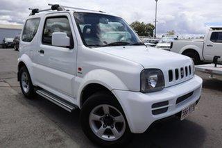 2008 Suzuki Jimny SN413 T6 Sierra Trekker White 4 Speed Automatic Hardtop.