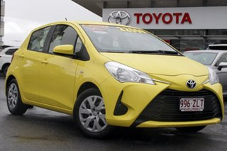 2019 Toyota Yaris NCP130R Ascent Yellow 4 Speed Automatic Hatchback.