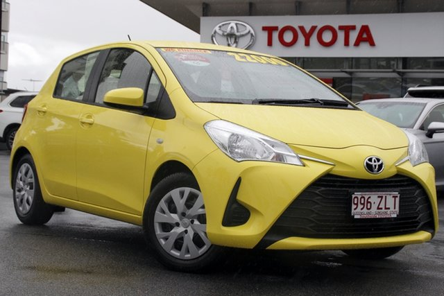 Pre-Owned Toyota Yaris NCP130R Ascent Upper Mount Gravatt, 2019 Toyota Yaris NCP130R Ascent Yellow 4 Speed Automatic Hatchback