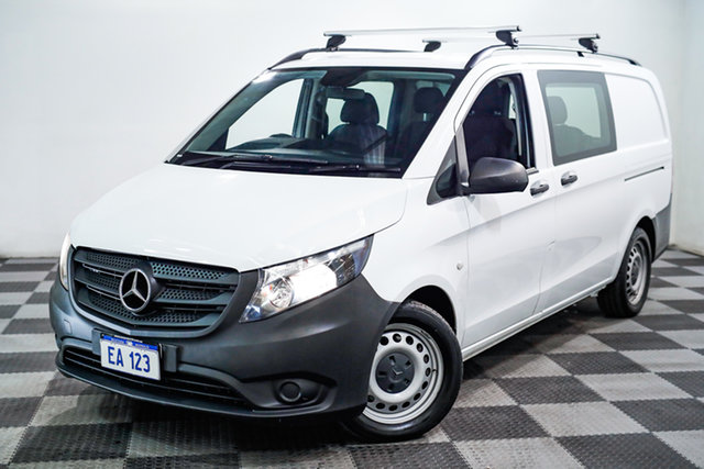 Used Mercedes-Benz Vito 447 119BlueTEC SWB 7G-Tronic + Edgewater, 2017 Mercedes-Benz Vito 447 119BlueTEC SWB 7G-Tronic + White 7 Speed Sports Automatic Van