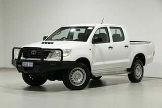 2015 Toyota Hilux KUN26R MY14 SR (4x4) White 5 Speed Manual Dual Cab Pick-up.