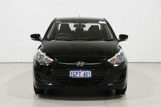 2016 Hyundai Accent RB3 MY16 Active Black 6 Speed CVT Auto Sequential Sedan.