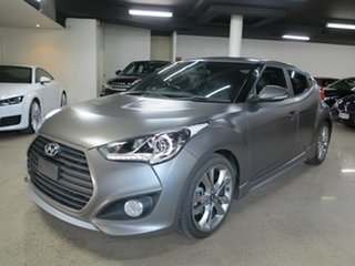 2015 Hyundai Veloster FS4 Series II SR Coupe D-CT Turbo + Grey 7 Speed Sports Automatic Dual Clutch.