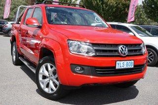 2016 Volkswagen Amarok 2H MY16 TDI420 4Motion Perm Trendline Red 8 Speed Automatic Utility.