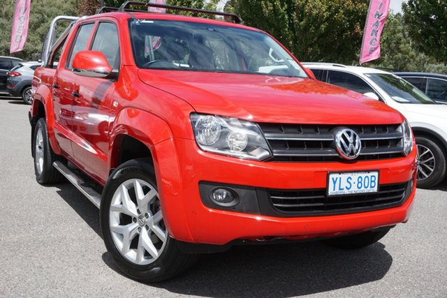 Used Volkswagen Amarok 2H MY16 TDI420 4Motion Perm Trendline Phillip, 2016 Volkswagen Amarok 2H MY16 TDI420 4Motion Perm Trendline Red 8 Speed Automatic Utility