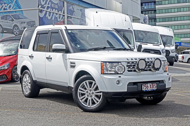 Used Land Rover Discovery 4 Series 4 L319 MY13 TDV6 Springwood, 2013 Land Rover Discovery 4 Series 4 L319 MY13 TDV6 White 8 Speed Sports Automatic Wagon