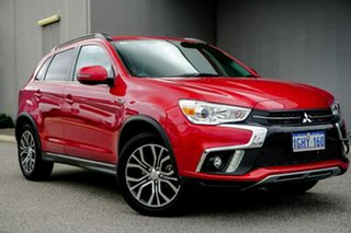 2017 Mitsubishi ASX XC MY18 LS 2WD Red/Black 1 Speed Constant Variable Wagon.